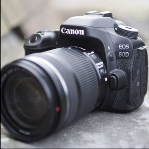 Black Canon EOS 80D With The New 18-135mm Lens+ Battery And Srap
