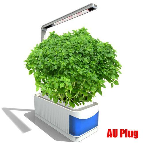 Bigin Indoor Herb Hydroponics Plants Garden Kit Lamp Adjustable Lamp Lever Planting Light With Visible Blue Window