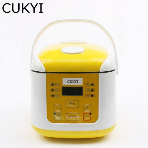 CUKYI 350W Mini Rice Cooker 2L For 4-5 Person Multifunctional Yogurt Cake Porridge Soup Rice Cooking Device Full-automatic