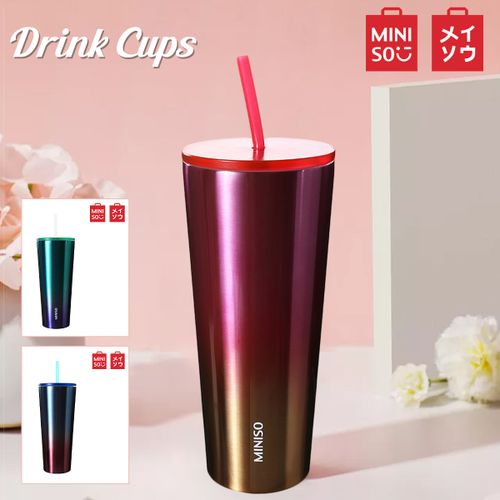 MINISO Reusable Unbreakable Drink Ice Cup Mug-Pink