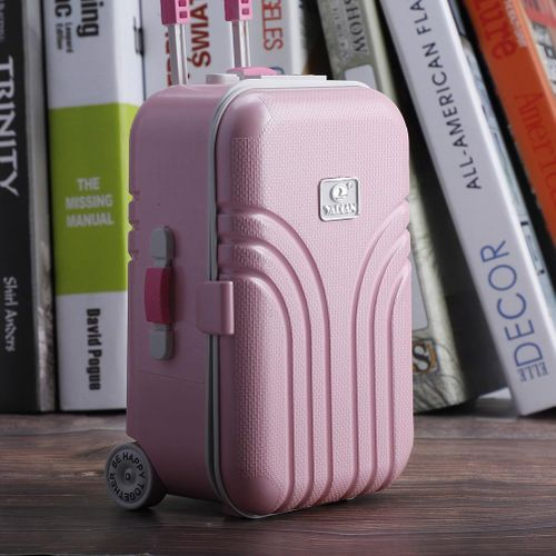 Girl Cute Pink Suitcase Model Mini Music Box Jewelry Case Craft Gift Kid Toys