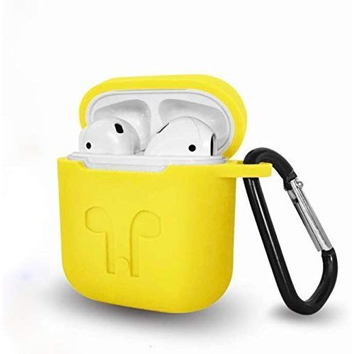 Silicone Case With Portable Hook For Iphone Earpod - Yellow