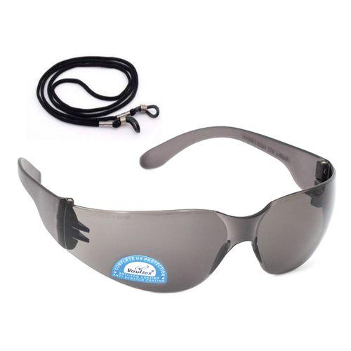 V72 DARK SAFETY GLASSES WITH CORD - ANTI SCRATCH/ANTI FOG/99% UV PROTECTION