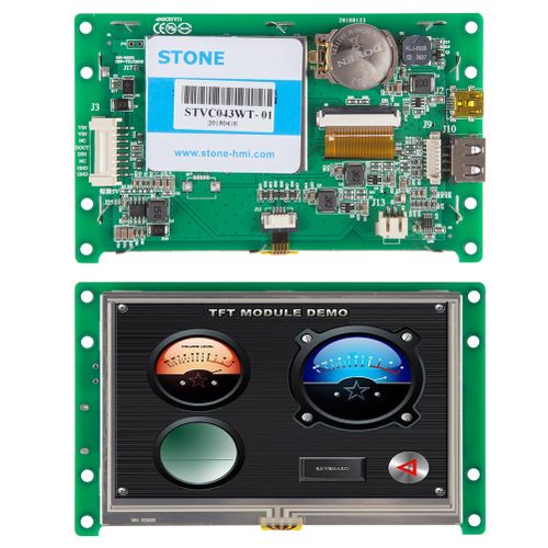 "4.3"" Intelligent LCD Module With Touch Screen+Program"