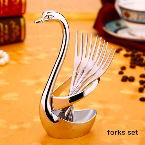 Fashion Stainless Steel Fork Set Coffee Spoon Set Tableware