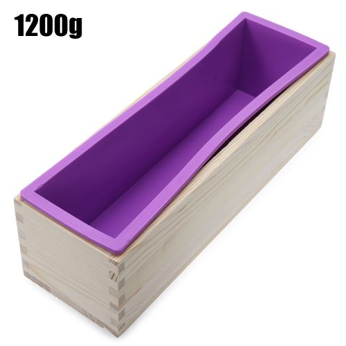 Silicone Soap Loaf Mold DIY Making Tools 1200g - Purple