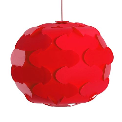 YK2238 12PCS IQ Lampshade With Puzzle Creative Decor Design - Red
