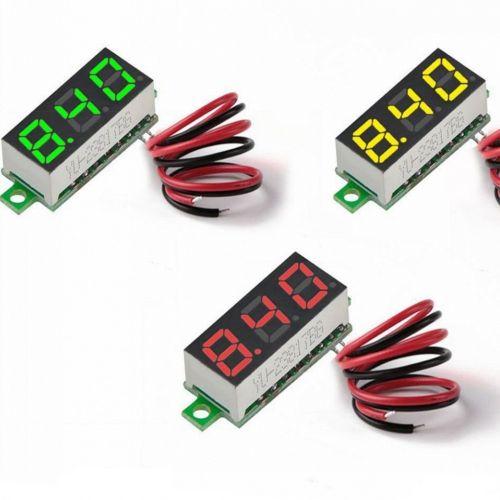 0.28 Inch 2.5V-30V Mini Digital Voltmeter Voltage Er Meter - Green