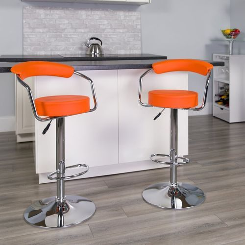 Chrome Bar Stool (set Of 2)