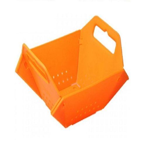 Multi-Purpose Flat Fold Kitchen Basket For Fruit Sieving Vegetables Draining