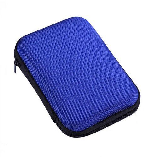 Mobile Hard Disk Storage Bag 2.5 Inch Box Shockproof-Blue-