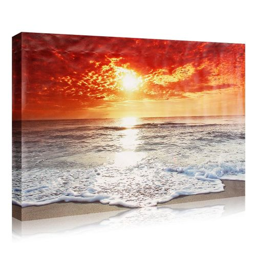 New Seaside Sunset Unframed LandscapeHome Hotel Decor Canvas Painting Wall Art 600*800mm