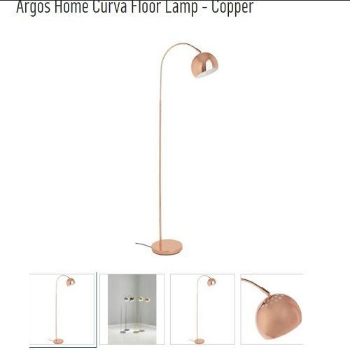 Sainsbury Sleek Stylish Chrome Curva Floor Lamp
