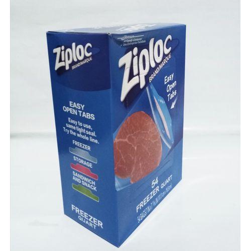Ziploc Double Zipper 54 Freezer Quart Bags