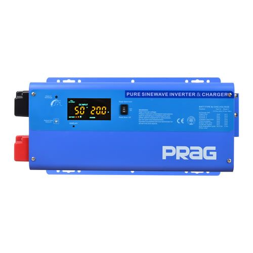4KVA 24V Pure Sine Wave Inverter With AC/DC Cables (Blue)