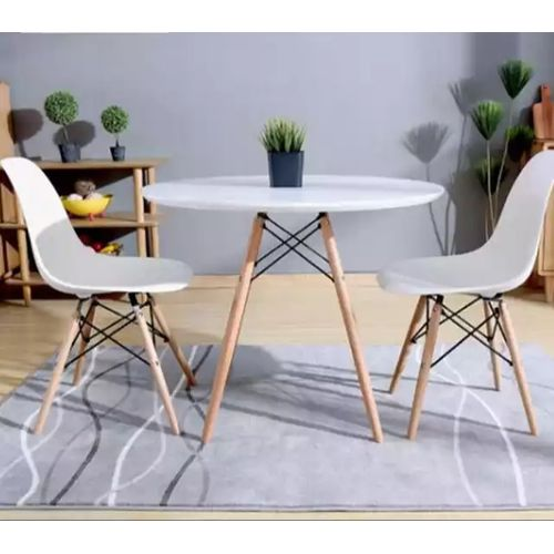 Dining Table Round + 4 Sitting Chairs (Lagos Delivery Only)