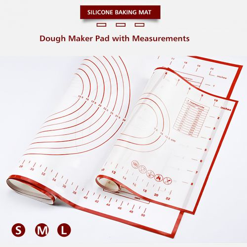 Silicone Baking Mat Dough Maker Pad With Measurements