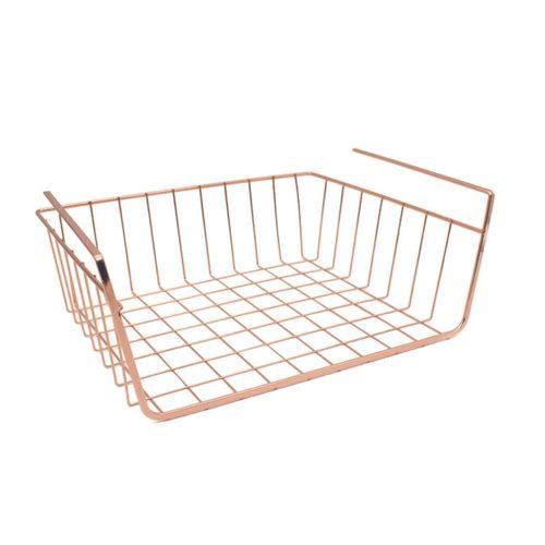 Under Shelf Storage Basket Hanging Basket Under Cabinet Storage Wire Basket Organizer Kitchen Cupboards Storage