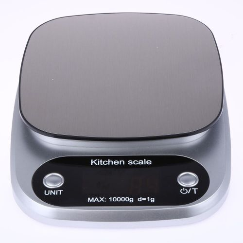 Kitchen Scales Food Baking Weight Digital LCD Electronic Weighing Scale 10kg(silver)(Grey)