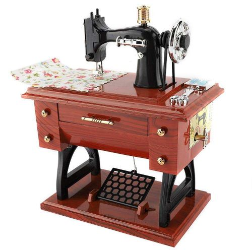 Sewing Machine Style Music Box Collection Anniversary Birthday Gift Table Decor