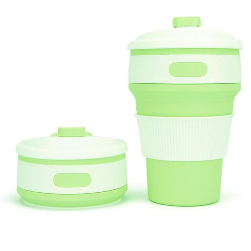 Heat Insulated 350ml 12oz Collapsible Coffee Cup With Lid