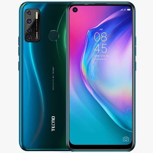 "Camon 15 Air (CD6) 6.6"" HD+ (3GB RAM+64GB ROM, Android Q , (48MP+8MP) Camera, 5000mAh - Malachite Blue"