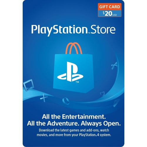 Sony PlayStation PSN Store $20 Gift Card For PS3/PS4/PSvita