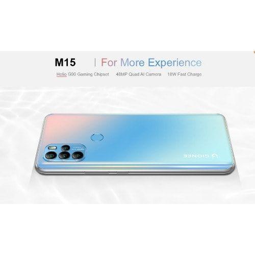 "M15, 6.67"" (8GB RAM, 128GB ROM) Android 11 (48/5/2/2)MP + 16MP Selfie - 4G LTE - Dual - 5100mAh - Fingerprint - Blue"