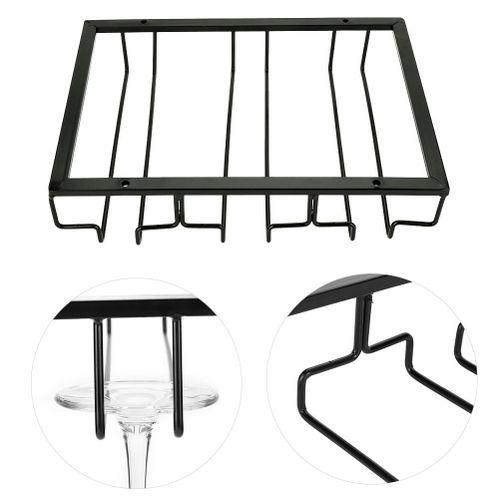 Sweetbaby Metal Iron Wine Cabinet Rack Kitchen Dining Bar Cup Holder Hanger Shelf