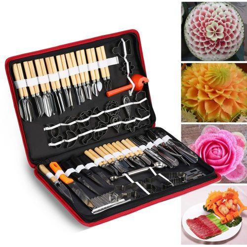 80PCS/Set Culinary Carving Peeling Tools Kit For Fruit Vegetable Garnishing Cutting Slicing