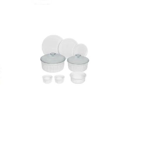Corningware French 10 Piece Bakeware Set - White