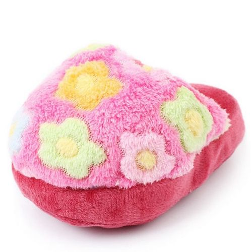 Puppy Dog Toy Pet Puppy Play Squeaker Sound Plush Slippers Bread Shape