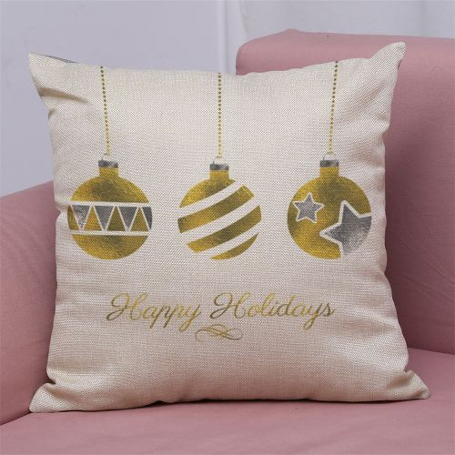 Dtrestocy New Christmas Cotton Linen Pillow Case Sofa Cushion Cover Home Decor