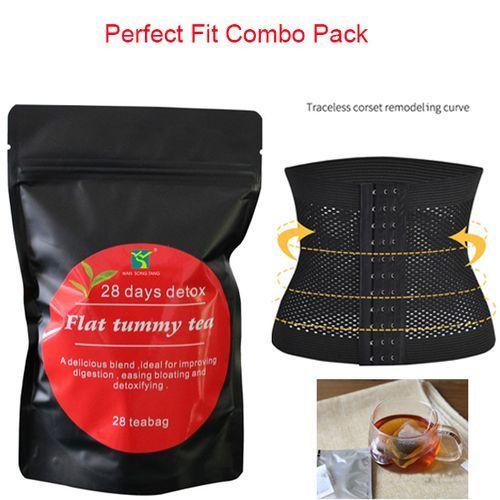 Perfect Fit Combo 28 Days Detox Green Tea Plus Waist Trainer