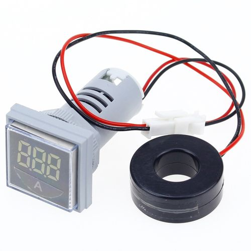 3pcs Yellow Light AC 60-500V 0-100A D18 Square LED Digital Dual Display Voltmeter Ammeter Voltage Gauge Current Meter