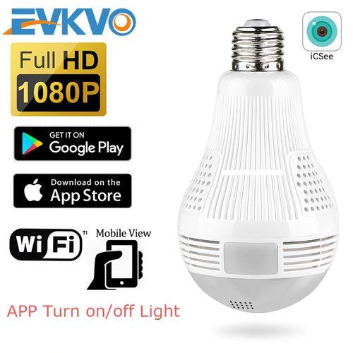 EVKVO BULB IP CAMERA 360Degree Wifi 960P Home Security CCTV