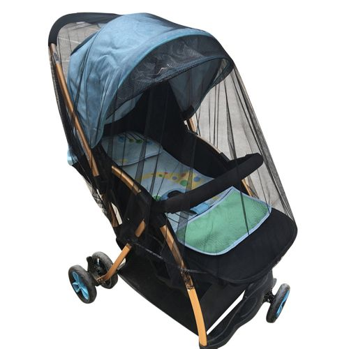 Braveayong Baby Crib Seat Mosquito Net Newborn Curtain Car Seat Insect Netting Canopy Cover -Black