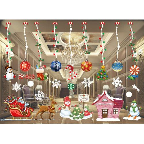 Home Window Glass Wall Sticker Decals Hotel Holiday Party Christmas Xmas Decor