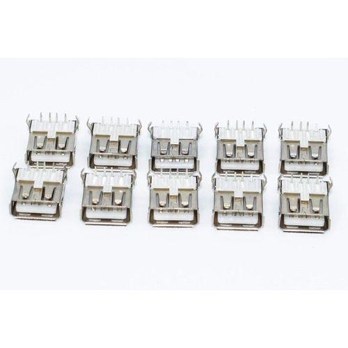 10PCS USB Standard Port Female Solder Jacks Connector