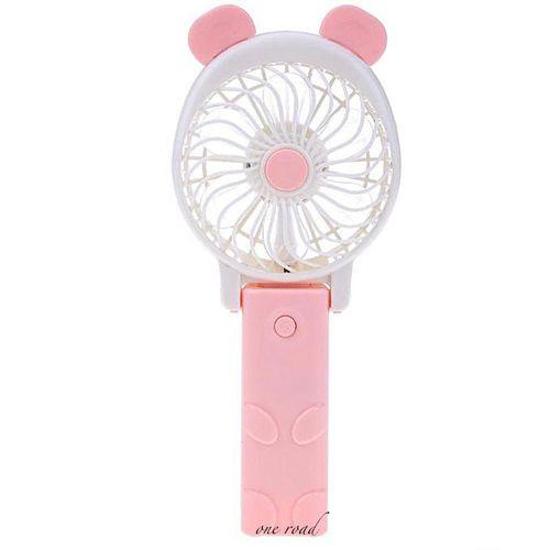 Desktop Miniature Fan Foldable Hand-Held Fan Battery Portable Fan Electric Hand Lever Baby Trolley Fan Rechargeable Battery