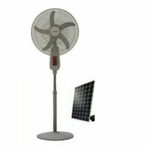 18 Inches 5 Blades Rechargeable Standing Fan With LED Light + 10 Watts Solar Panel