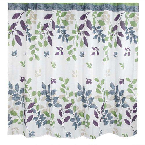 Leaves Pattern Shower Bath Curtain Waterproof Mildewproof Bathroom Curtain Printing Curtains For Bathroom Shower