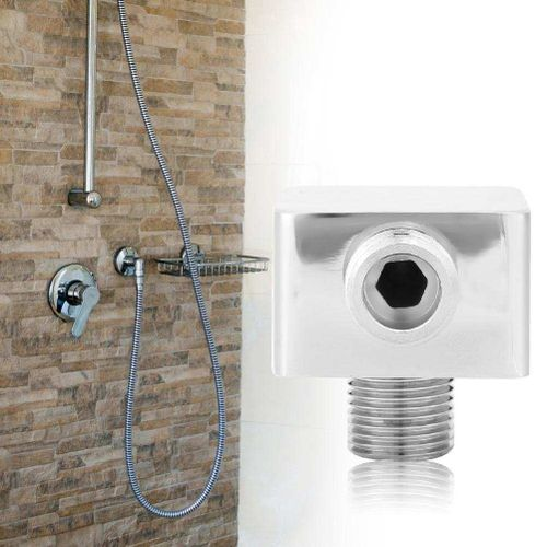 G1/2in Brass Square Shape Wall Mounted Shower Hose Connector Shower Outlet Accessories