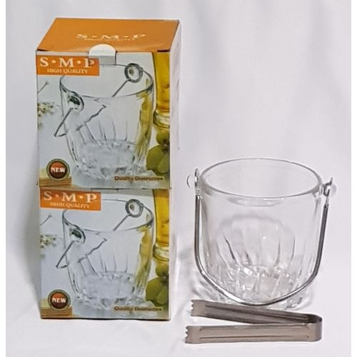 Glass Ice Bucket 2 In 1