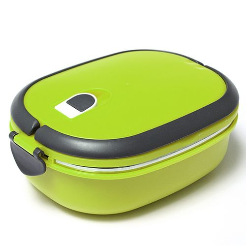 US 1 Layer Stainless Steel Insulated Bento Food Thermal Container Lunch Box