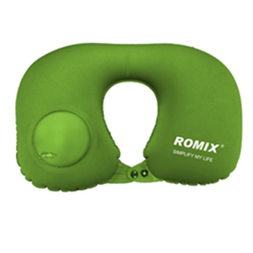 Hand Pressure Inflatable Neck Pillow-Green