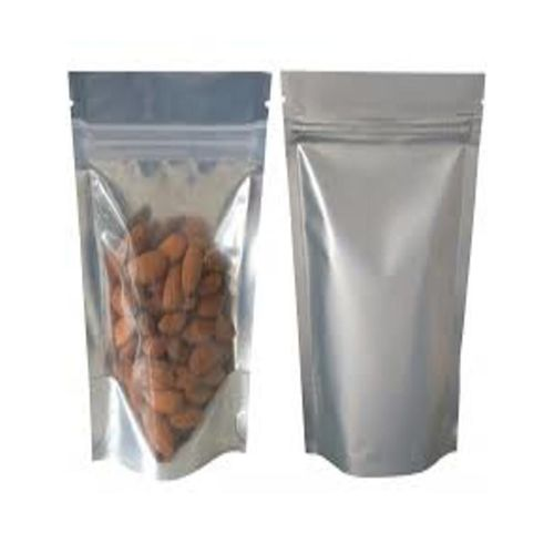 100pcs Silver Resealable Food Bags Stand Up Pouch