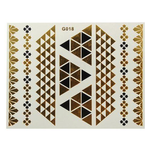 Temporary Metallic Ta Ttoo Gold Flash Ta Ttoos Flash Inspired Sheet G018