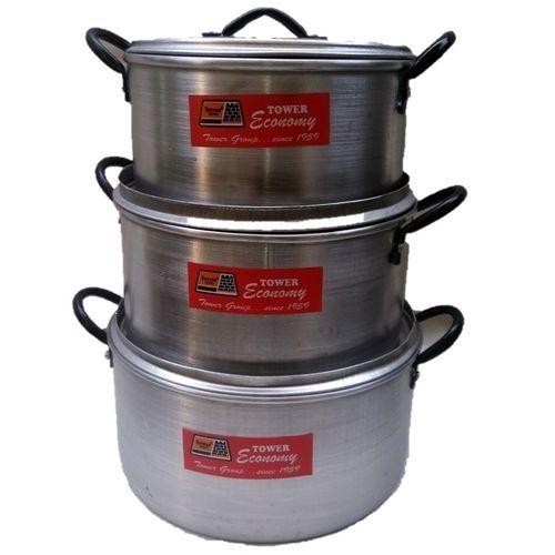 Set Of 3 Cooking Pots Cookware Pot Set Cooktop