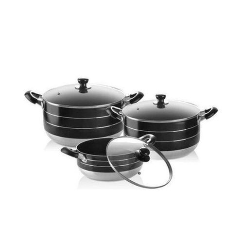 6 Piece Non Stick Aluminium Cookware